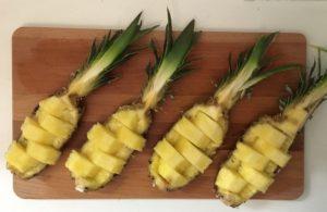 ananas dekorativ schneiden 4