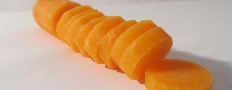 Karotten scheiben