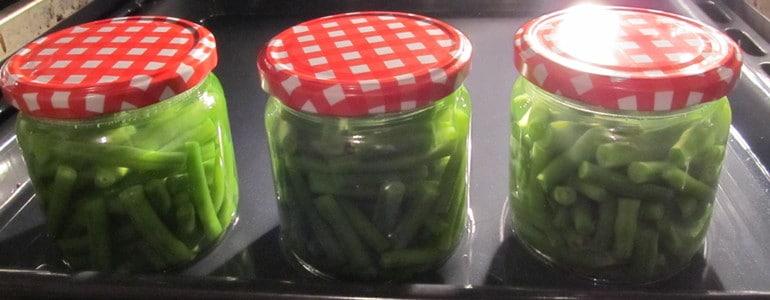 Bohnen im Ofen einkochen