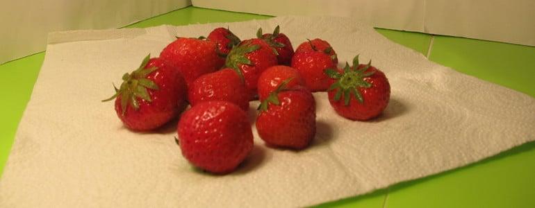 Erdbeeren auftauen