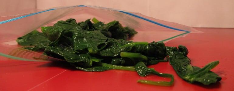 Gekochten Spinat einfrieren