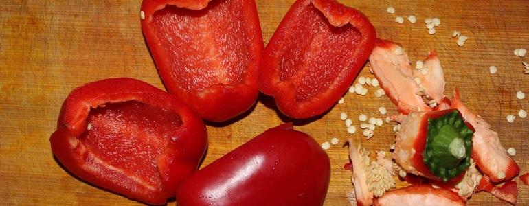 Paprika vierteln