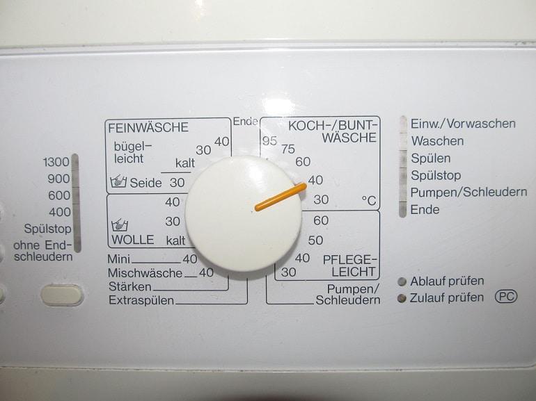 Waesche waschen mit dem richtigen Waschprogramm