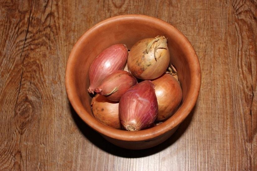 Zwiebeln lagern im Tontopf